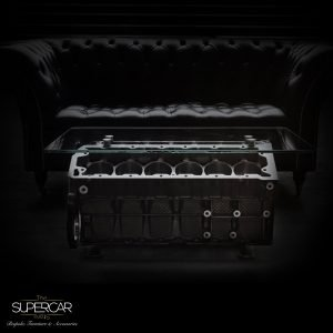 Jaguar V12 Engine Coffee Table by The Supercar Store