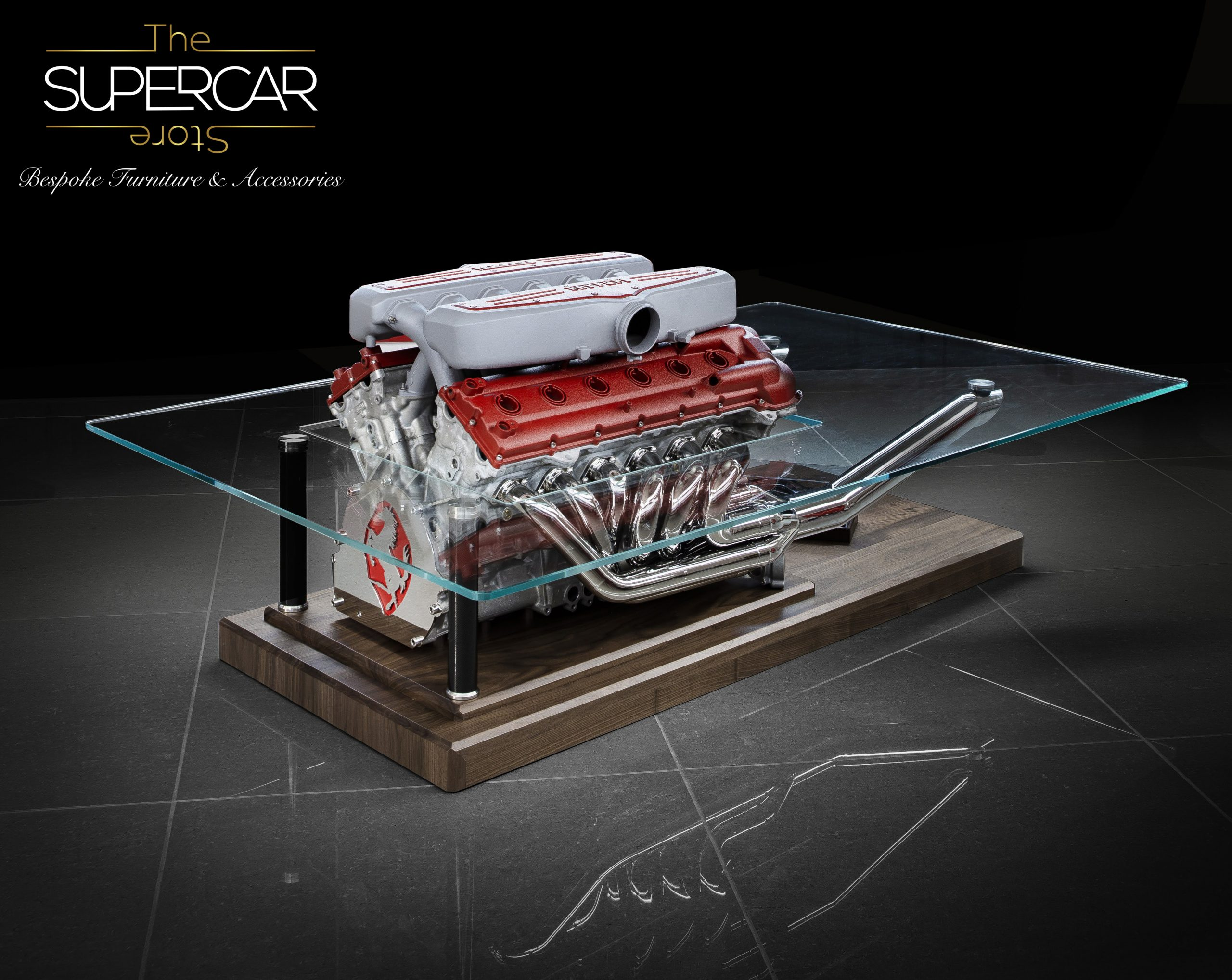 Ferrari 599 GTB V12 Engine Table by The Supercar Store
